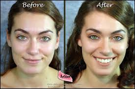 unretouched before and after with belloccio aribrush makeup