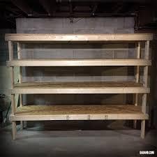 freestanding diy 2x4 shelves storage shelving for basement garage or pantry
