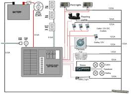 rv dc volt circuit breaker wiring diagram power system on an camper wiring google search