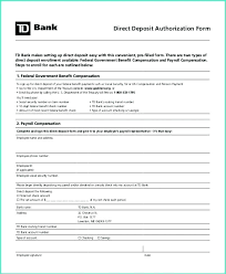 Employee Direct Deposit Authorization Agreement Direct Deposit Form Template