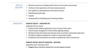Makeup Artist Resume Sample Monster Com Jds Job Description