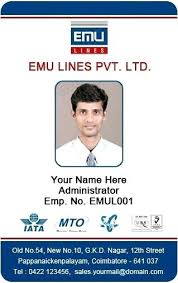Template Id Cards Identification Templates Card Publisher Free