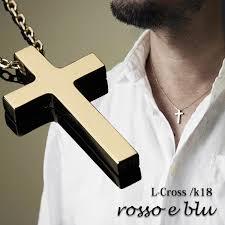 made in cross gold necklace men 18k 18 karat gold ト cross gold cross