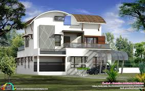 Curved Architecture Contemporary Architecture Curved Roof Kerala Home Design