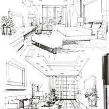 interior design bedroom sketches. Interior Design Drawing Unique Sketch Bedroom Livingroom Condo  Interiordesign Of Interior Design Bedroom Sketches E