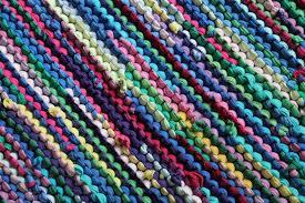 rainbow rag rug t shirt rug retro cottage chic lime green t shirt rag rug