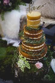 Naked Wedding Cake With Foliage And Greenery By White Rose Cake