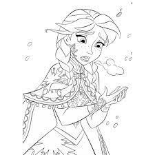 Bộ 10 Tranh tô màu sáp, màu nước Elsa và Anna cho bé tập tô sáng tạo khổ A4