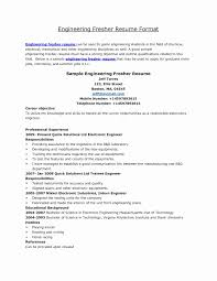 Resume Templates For Fresh Engineering Graduates Fresh Mechanical