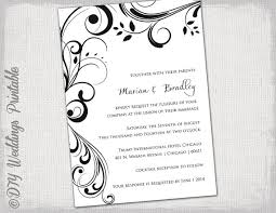 Wedding Invitation Templates Black And White Scroll Invitations Mesmerizing Invitation Templates Word