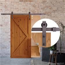 2018 usa 4ft 5ft 6ft 6 6ft 8ft black rustic steel sliding barn wood door hardware sliding barn track kit from homedecor1 59 69 dhgate