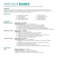 Education Coordinator Resumes Best Social Services Administrative Coordinator Resume