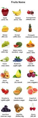 all fruits name are