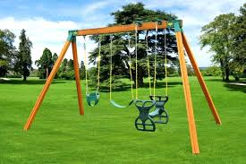 childrens play set wooden swing classic wooden a frame swing set for kids wooden swing seat