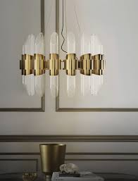 contemporary chandelier crystal brass