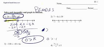 Inequalities with Variables on Both Sides with worksheet - YouTube