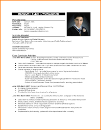 Example Of Resume Format Standard Resume Examples Business Cover