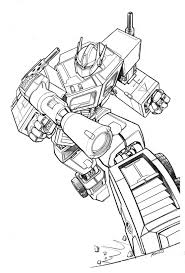 Coloriage Transformers Optimus Prime Imprimer
