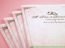 how to make a personal wedding ceremony booklet 11 steps Wedding Booklet image titled make a personal wedding ceremony booklet step 10 wedding booklet templates