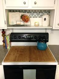 when not ready for appliance upgrades cover an ugly and create glass top stove protective covers