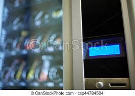 Money Vending Machine Inspiration Vending Machine Display Sell Technology And Consumption Concept