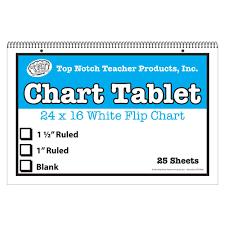 White Chart Tablet 16x24 Blank 25 Sht