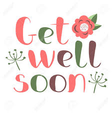 Get Well Soon Poster Get Well Soon Card With Hand Drawn Lettering Decorative Poster