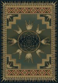 united weavers of america genesis dream catcher green area rug