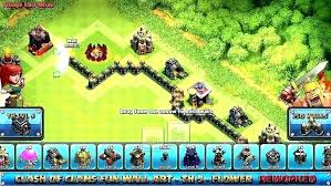 wall level 12 wall level wall level a clash of clans troll base a flower defense