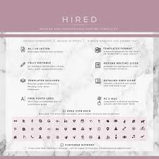 Modern Resume Template For Ms Word Layla Hired Design Studio