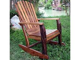 groovystuff adirondack rustic teak rocking chair tf 483 by patio com