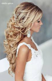 curly hairstyle for wedding ideas about loose wedding hairstyles on wavy 2017
