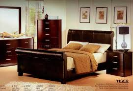 Cherry Finish Bedroom Furniture Charming On With Regard To Dark Modern W  Bycast Bed Options 6