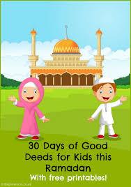 30 Days Of Good Deeds For A Ramadan Jar In The Playroom