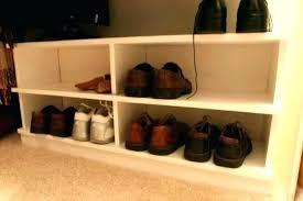 diy closet shoe storage ideas organizer shelf rack plans random coat bathrooms agreeable close