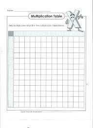 Blank Charts And Tables Blank Multiplication Charts Charleskalajian Com