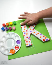 cute painted letter craft a kid made handmade gift mom will treasure