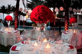 Wedding Decoration Ideas: Red, White And Black Table Centerpieces  EverAfterGuide.com