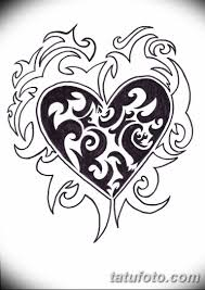 черно белый эскиз тату рисункок сердце 11032019 088 Tattoo