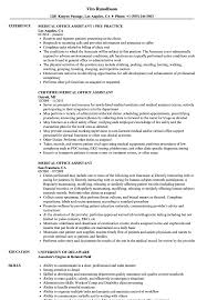 Medical Office Assistant Resume Samples Velvet Jobs