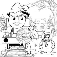 Small Picture Thomas The Train Coloring Pages Christmas Day Cartoon Coloring