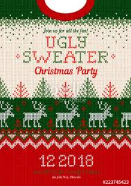 christmas sweater pattern background green. Brilliant Sweater Ugly Sweater Christmas Party Invite Vector Illustration Handmade Knitted Background  Pattern With Deers Christmas Intended Sweater Pattern Background Green N