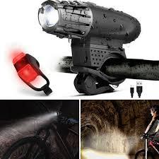 Ebay Bike Light Set 5000 Lumen 8 4v Rechargeable Cycling Light Bicycle Bike Led Front Rear Lamp Set
