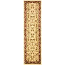 lyndhurst ivory red 2 ft x 14 ft runner rug