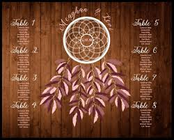 Dream Catcher Seating Chart For Wedding
