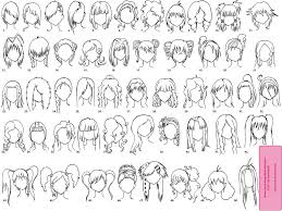 anime chibi drawing hair. Modren Anime How To Draw Chibi Hair  Various Female AnimeManga Hairstyles By  U003dSabakuNoElli On DeviantART To Anime Chibi Drawing Hair Pinterest