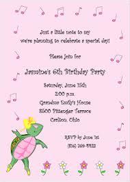 6th Birthday Invitation Wording Granizmondal Com