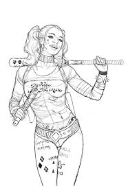 Small Picture Harley Quinn Coloring Pages Coloring Pages Ideas Reviews