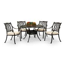 5 piece patio dining set with 4