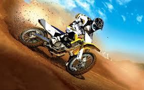 Yellow And White Motocross Dirt Bike Motocross Suzuki